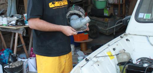 Mise en place d'un séparateur de poussière.